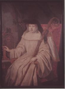 Portret van een vrouw, waarschijnlijk Lidewij Maria Agnes van der Nath (1671-1742)