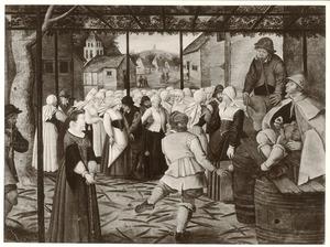 Catharina-dans onder een pergola