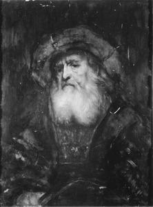 Halffiguur van een oude man met baard