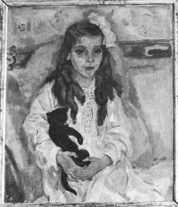 Meisjesportret met poes