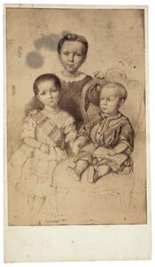 Portret van Frans Alexander Johan Frederik ridder van Rappard (1854-1923), Henriëtta Maria Elisabeth van Rappard (1856-1874) en Anthon Gerhard Alexander ridder van Rappard (1858-1892)