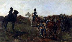 Cavalerie in de duinen