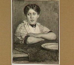 Vrouw aan tafel