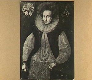 Portret van Frouck Wytzesdr. van Cammingha (....-1623), echtgenote van Syds van Sytzama