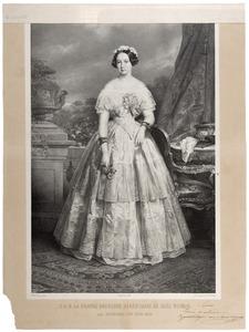 Portret van Sophia van Oranje- Nassau (1824-1897)