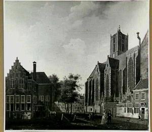 Gezicht op de Jacobikerk in Utrecht