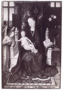 Tronende Madonna met kind en engel