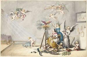 Zelfportret van Gesina ter Borch (1633-1690)