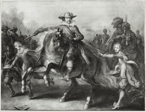 Ruiterportret van Frederik Hendrik van Oranje-Nassau (1584-1647) temidden van zijn gevolg