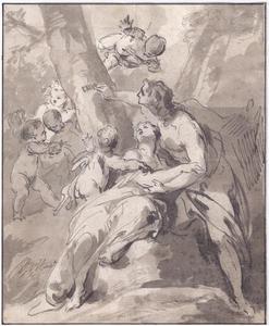 Paris en Oenone krassen hun naam in de boombast