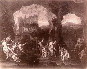 Diana en haar nimfen in een grot