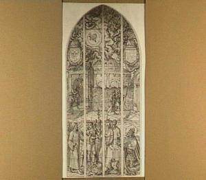 De cijnspenning (Mattheüs 22:15-22) met portret van de stichter keizer Karel V