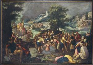 Jozef wordt door zijn broers verkocht aan de Medianieten  (Genesis 37:28)