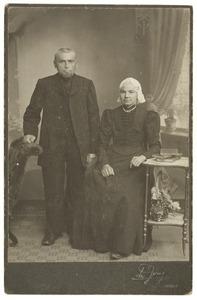 Portret van Phillipus Bokkee en zijn echtgenote