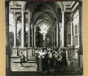 Galerij met prins Frederik Hendrik en Amalia van Solms, de stadhouder van Friesland Ernst Casimir van Nassau-Dietz en zijn zoon Hendrik Casimir I