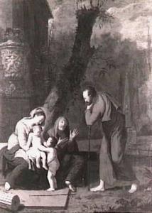 Heilige Familie met Elisabeth en de kleine Johannes de Doper