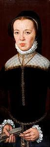 Portret van een vrouw, mogelijk Louise van Leyden