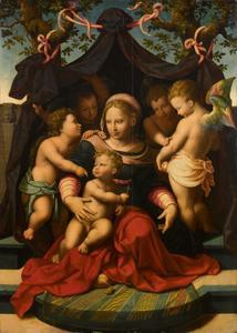 Maria met kind, Johannes de Doper als kind en putti