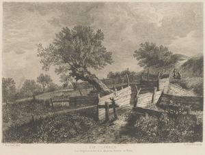 Duinlandschap met boomgaard
