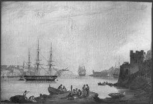 Nederlands eskader onder commando van Z.K.H. Prins Hendrik voor anker in de haven van Malta