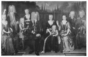 Portret van de familie van Cornelis Philip van Lidth de Jeude (1670-1734) en Christina Margaretha Wijnen (1679-1754)