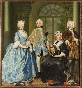 Portret van de familie van Gosewijn Theodoor van Coehoorn (1679-1737)
