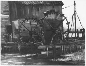 Watermolen bij Gennep: studie van het rad