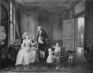 Portret van Arent Anthonie Roukens (1747-1822) en zijn echtgenote Adriana Johanna Jongbloet (1754-1790) en twee kinderen