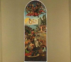 De doortocht door de Rode Zee, het leger van farao wordt door de golven verzwolgen  (Exodus 14:21-26)