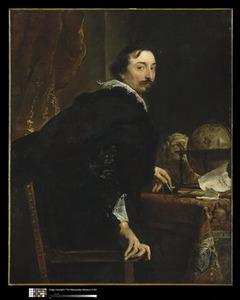 Portret van Lucas van Uffel, opstaande uit zijn stoel