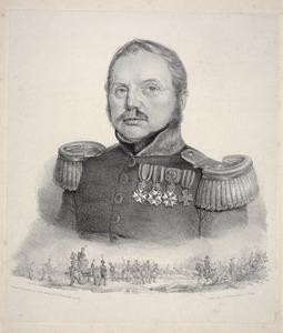 Portret van  Frederik Carel List (1784-1868)
