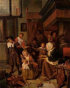Het Sint-Nicolaasfeest (naar Jan Steen)