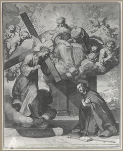 God de Vader en Christus verschijnen in een visioen aan Ignatius van Loyola