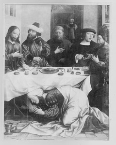 Maria Magdalena wast de voeten van Christus (fragment)