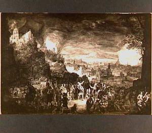 De verwoesting van Troje en de vlucht van Aeneas