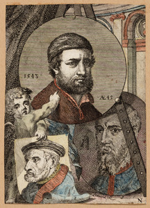 Portretten van Herri met de Bles (....-....), Lucas Gassel (....-....) en Hans Holbein (....- 1543)