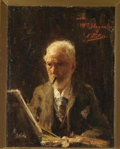 Portret van Jan Hendrik Weissenbruch (1824-1903)