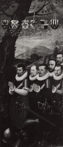 Groepsportret van 6 stichters