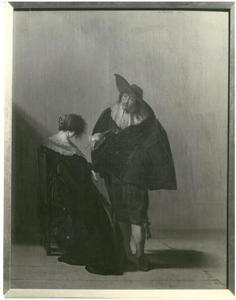 Cavalier en dame in gesprek