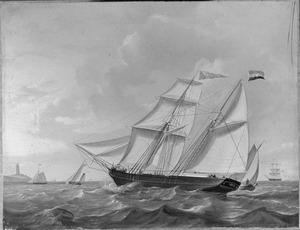 """Het schoenerbrikschip """"Curacao"""" van rederij Rietveld"""