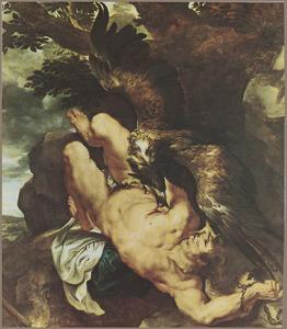 De bestraffing van Prometheus door de adelaar van Zeus