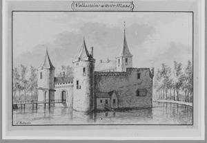 Voor- en rechterrzijde van Valckestein bij Rhoon