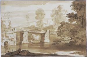Tivoli, de Ponte Acquoria over de Aniene