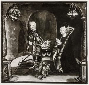 Dubbelportret  van Jacob van Woude (?-1503) en Reyntgen van Brakel (?-1499)