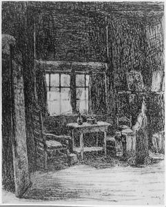 Boereninterieur in Jozef Israëls' atelier