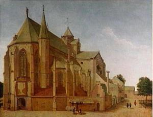 Het koor van de Mariakerk op de Mariaplaats in Utrecht