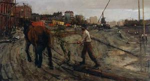 Bouwwerkzaamheden in Amsterdam