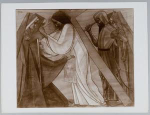 Zesde Kruiswegstatie. Veronica droogt Jezus' aanschijn