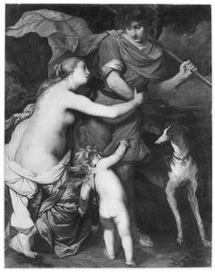 Venus tracht Adonis te weerhouden om op jacht tegaan