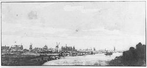 Leiden vanuit het noord-westen